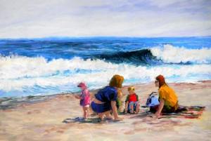 Mommies on the Beach